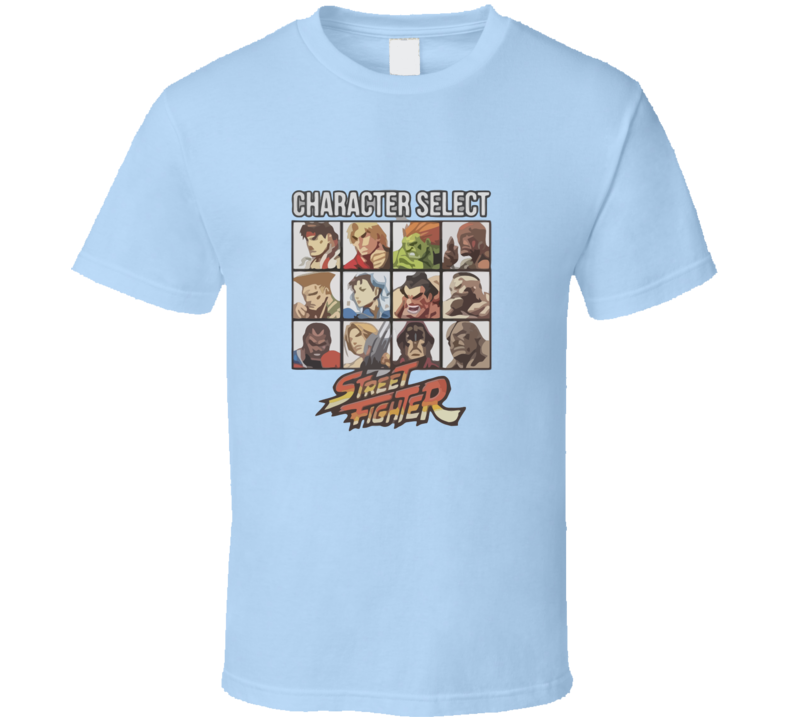 Street Fighter Character Select T-shirt And Apparel 1