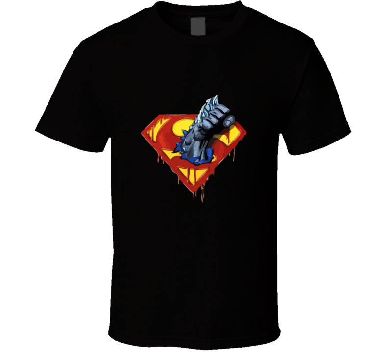 Doomsday Fist And Superman Logo T-shirt And Apparel 1