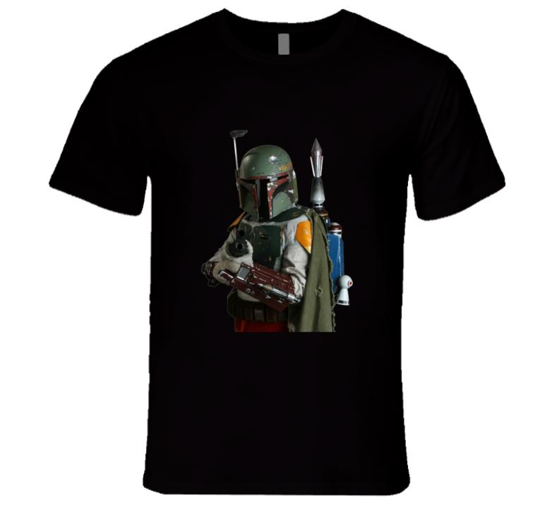 Star Wars Boba Fett Warning T-shirt And Apparel T Shirt 1