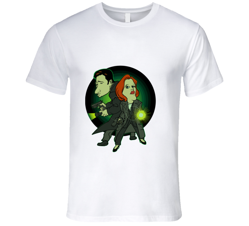 X-files Mulder And Scully Cartoon T-shirt And Apparel T Shirt 1