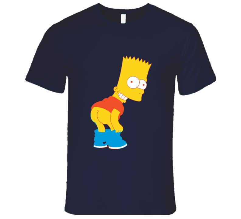 THE SIMPSONS Bart Butt T-shirt And Apparel 1