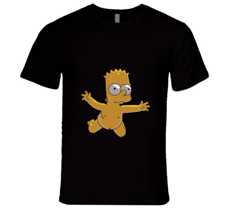 THE SIMPSONS Bart Naked Nevermind Style T-shirt And Apparel 1