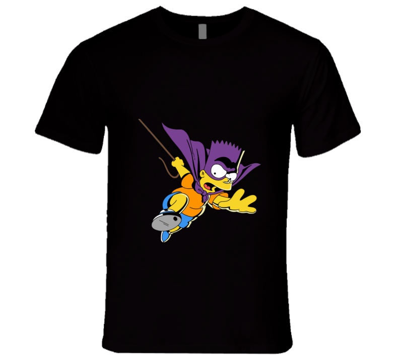 THE SIMPSONS Bart Bartman Is Coming T-shirt And Apparel 1