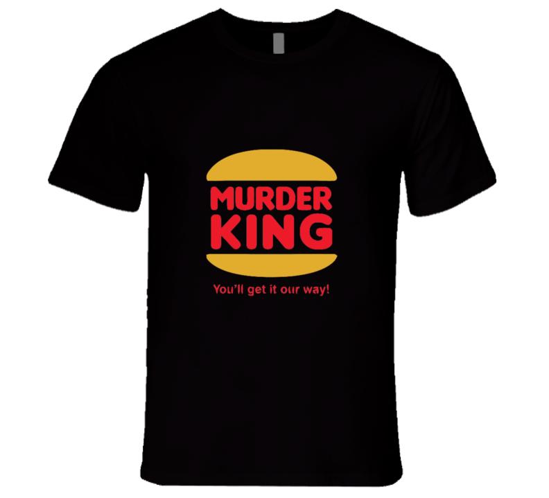 Murder King Logo Parody T-shirt And Apparel 1