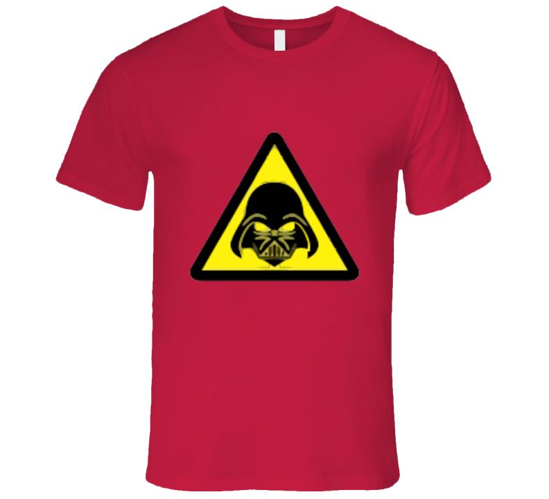Star Wars Darth Vader Warning Sign T-shirt And Apparel T Shirt 1