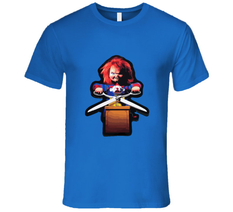 Child's Play Chucky Scisor T-shirt And Apparel T Shirt 1