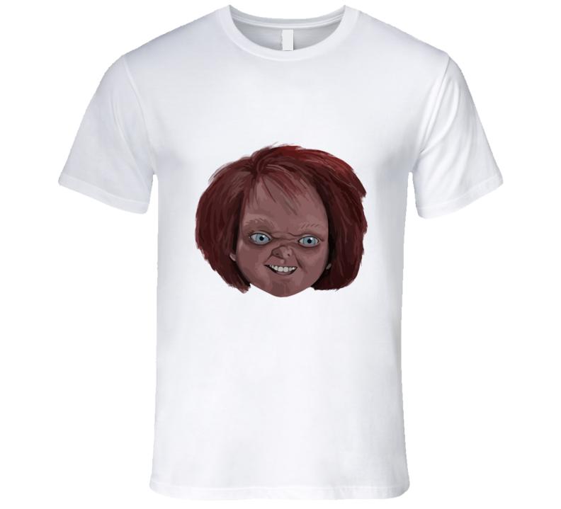 Child's Play Chucky Head T-shirt And Apparel T Shirt 1