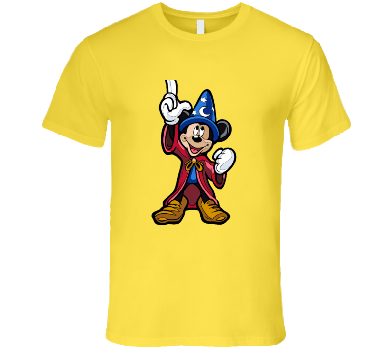 Mickey Apprentice Sorcerer T-shirt And Apparel T Shirt 1