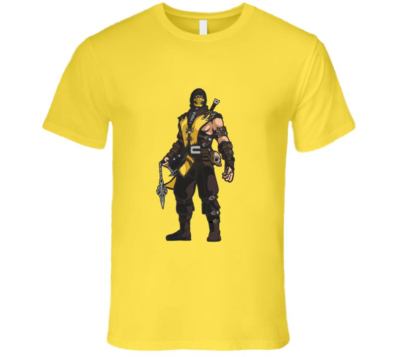Mortal Kombat Scorpion Fatality T-shirt And Apparel T Shirt 1