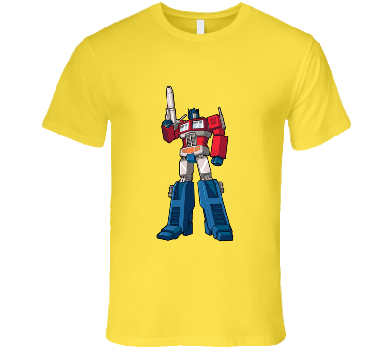 Transformers Optimus Prime Stand Up T-shirt And Apparel T Shirt 1