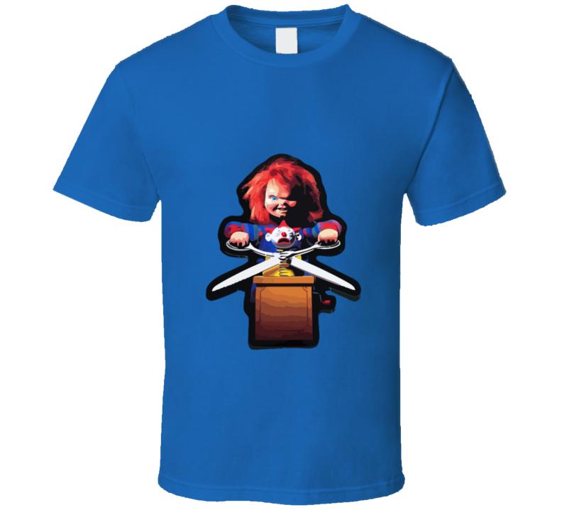 Child's Play Chucky Scissor T-shirt And Apparel T Shirt 1