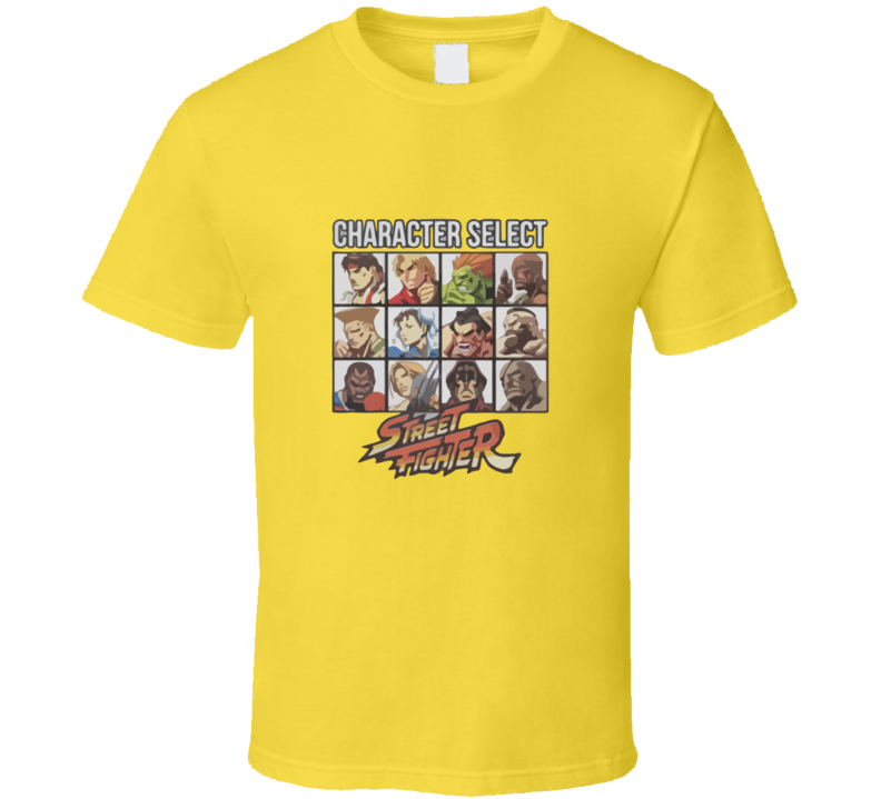 Street Fighter Character Select T-shirt And Apparel T Shirt 1