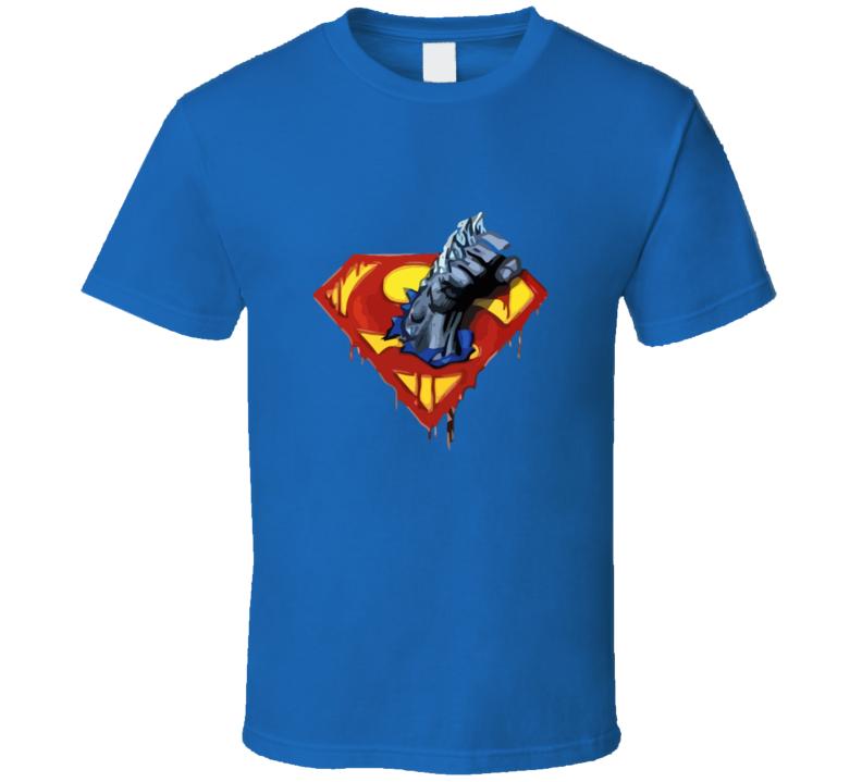 Dc Superman Logo Doomsday Fist T-shirt And Apparel T Shirt 1