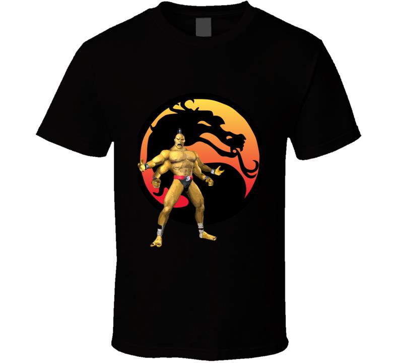Mortal Kombat Goro And Logo T Shirt 1