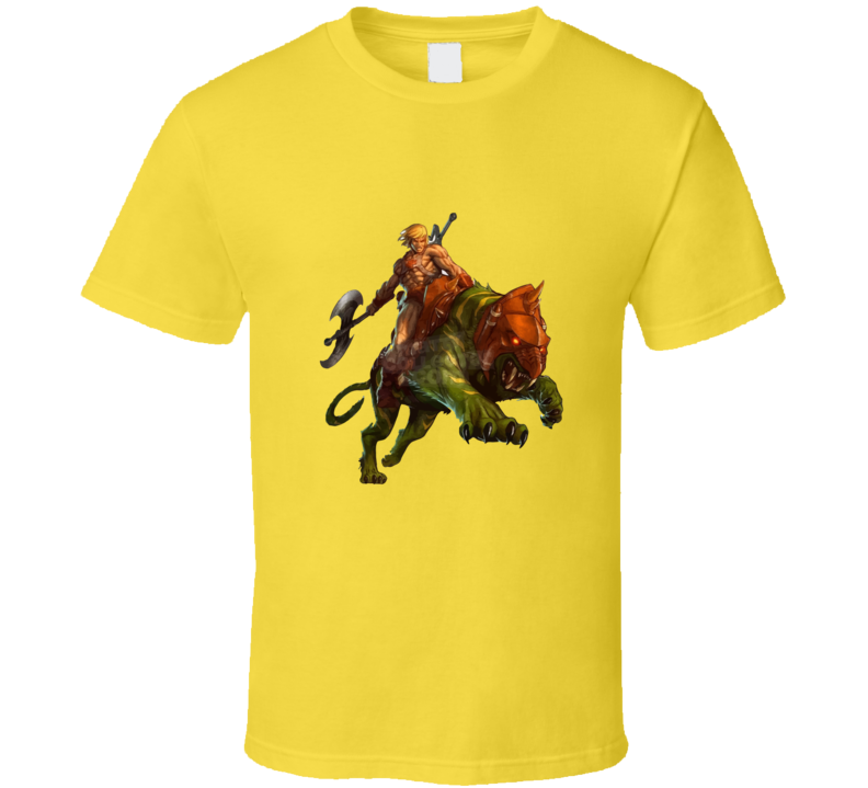 Masters Of The Universe He-man And Battle Cat T-shirt And Apparel T Shirt 1