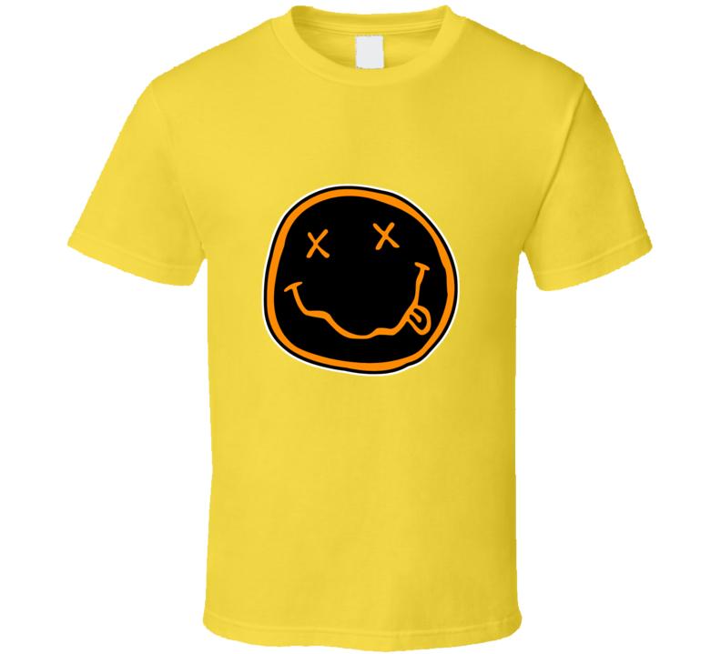 Nirvana Happy Face Logo T-shirt And Apparel T Shirt 1