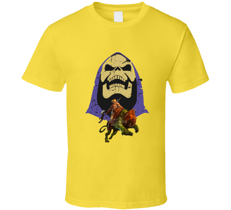 Masters Of The Universe Skeletorl He-man Battle Cat T-shirt And Apparel T Shirt 1
