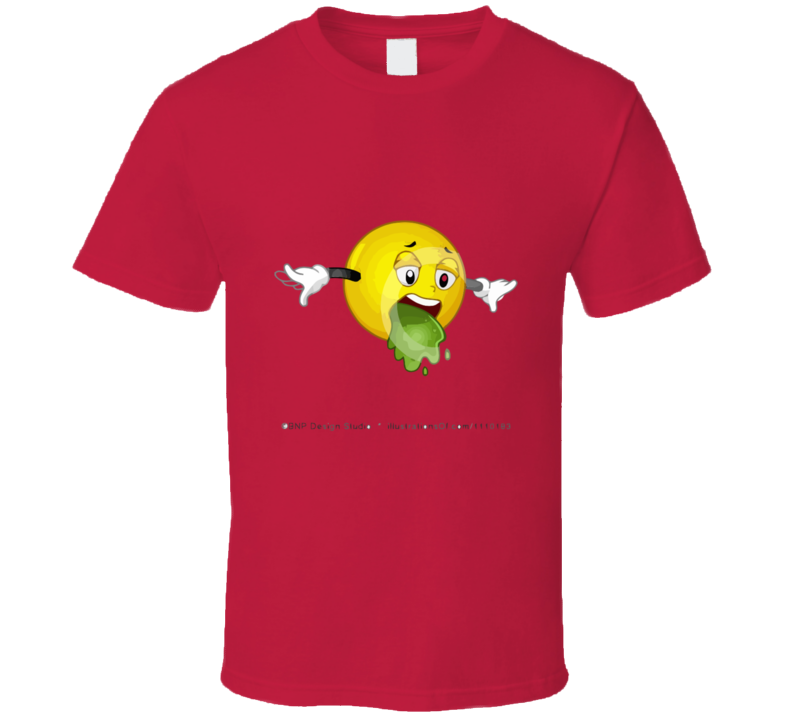 Happy Face Barfing T-shirt And Apparel T Shirt 1