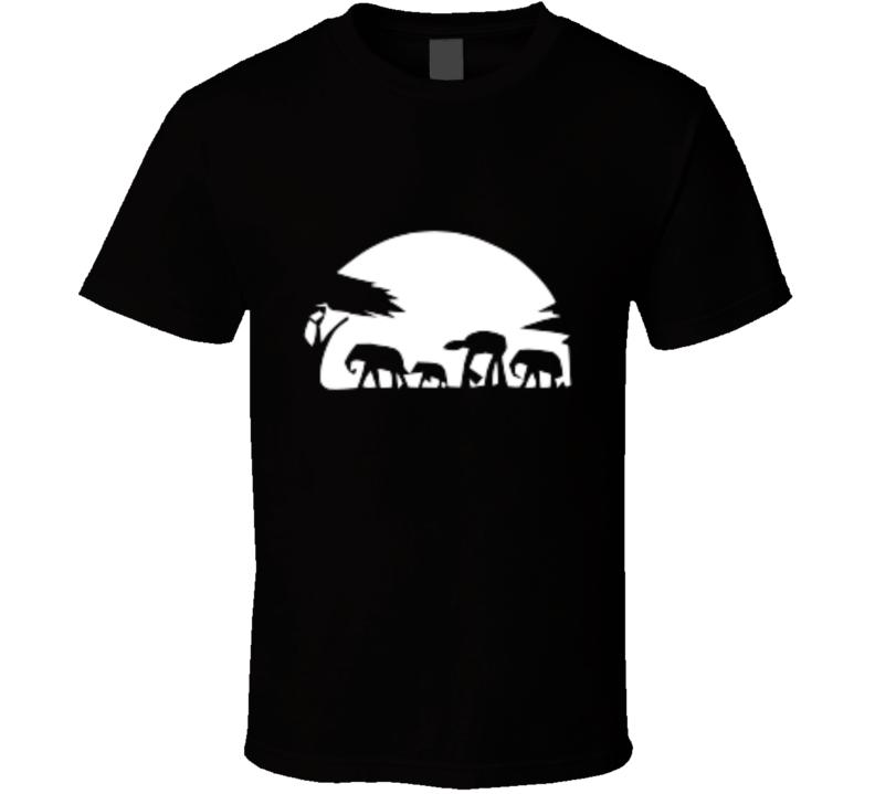 Star Wars At-at The Great Walk Of Life Mashup T-shirt And Apparel T Shirt 1